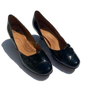 Sofft Black Patent Leather Heels
